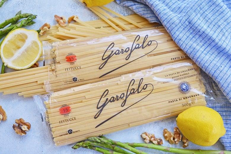 bags of dry pasta