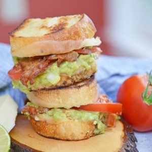 stack of guacamole grilled cheese sandwiches
