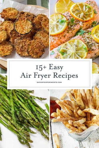 Collage of air fryer recipes