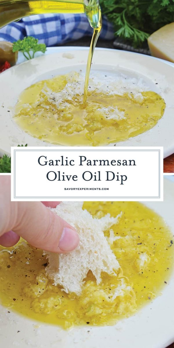 Garlic Parmesan Olive Oil Bread Dip for pinterest