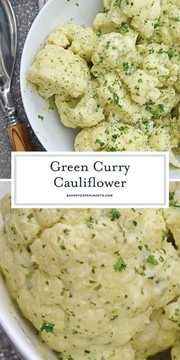 green curry cauliflower for pinterest