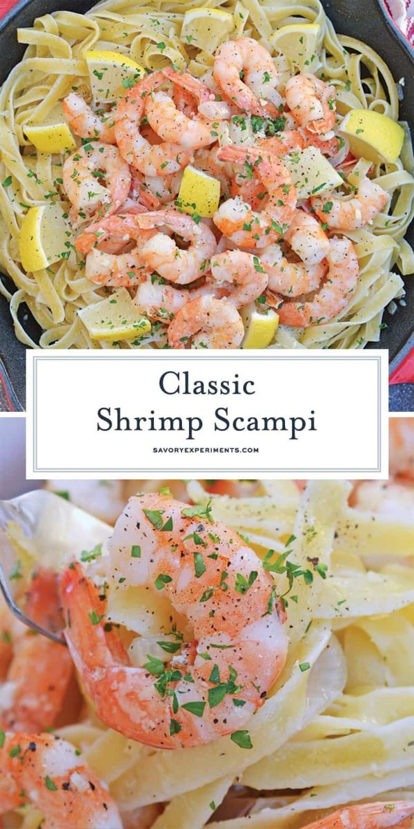 Classic Shrimp Scampi Recipe for Pinterest