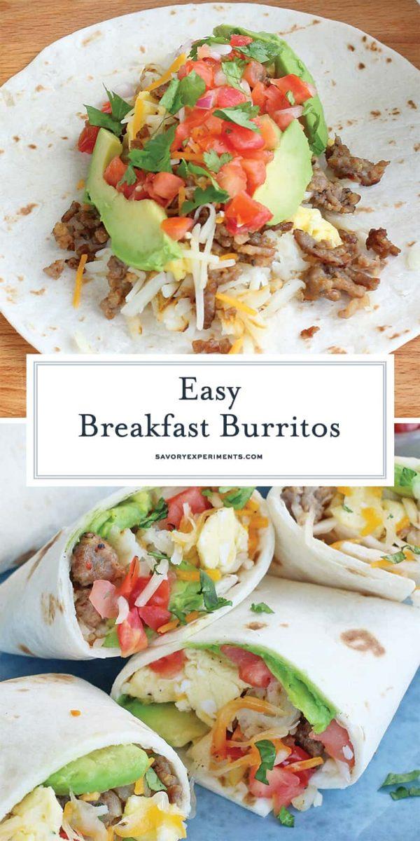 Breakfast burritos for pinterest