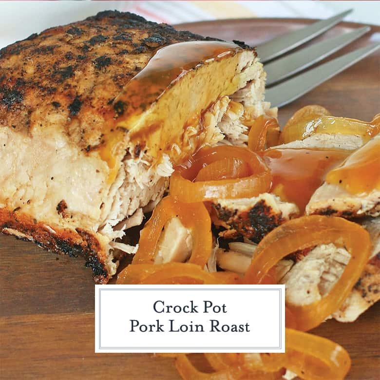 Sliced pork loin with onion gravy