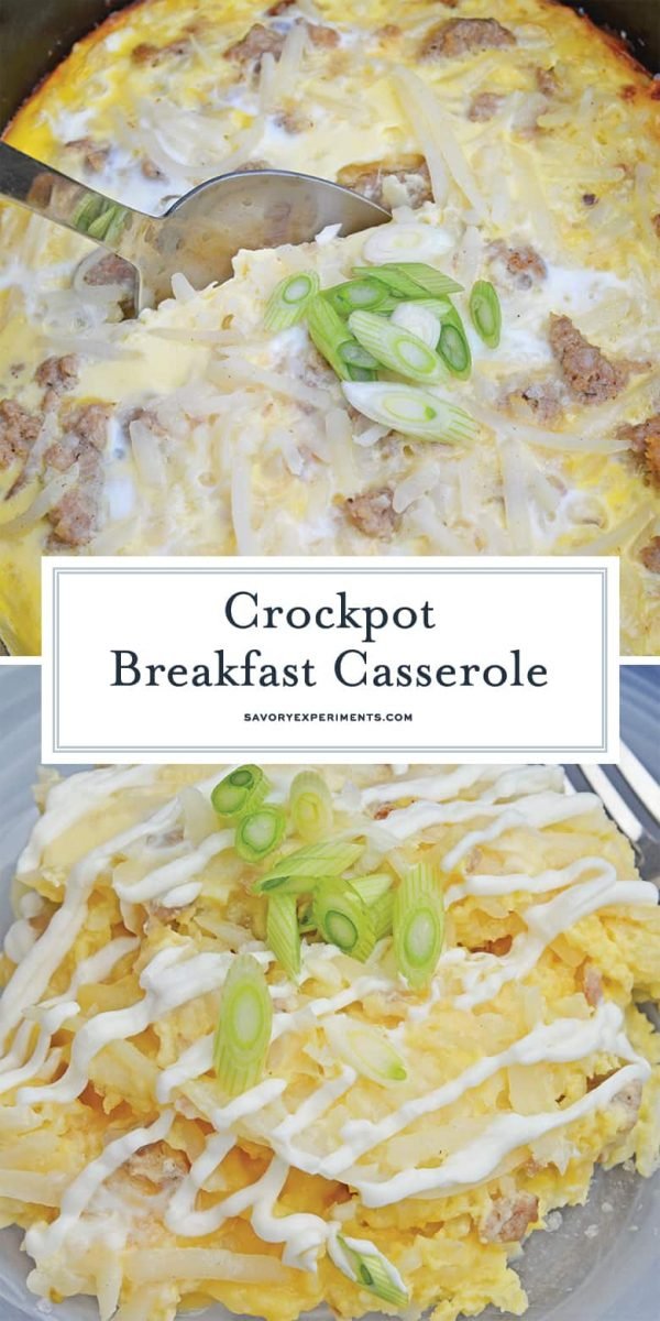Breakfast casserole made in the crock pot
