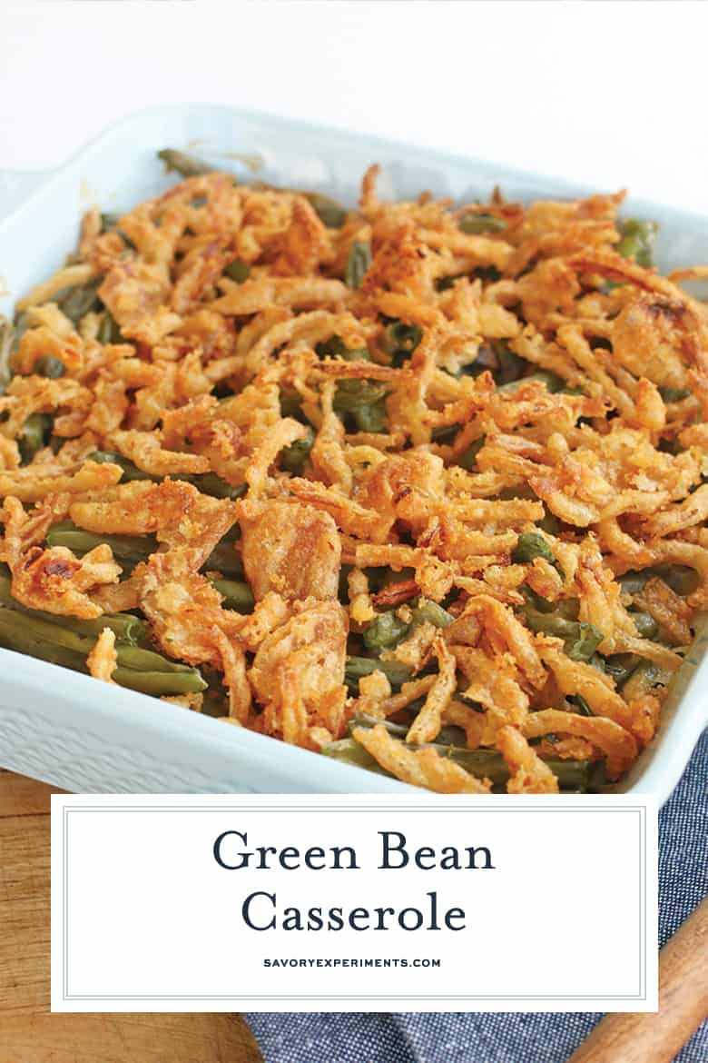 Green bean casserole for Pinterest