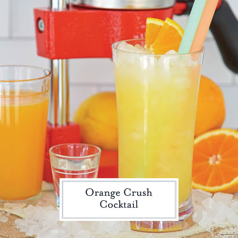 Orange Crush with juicer in the background