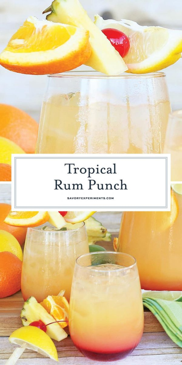 Tropical fruit punch for pinterest