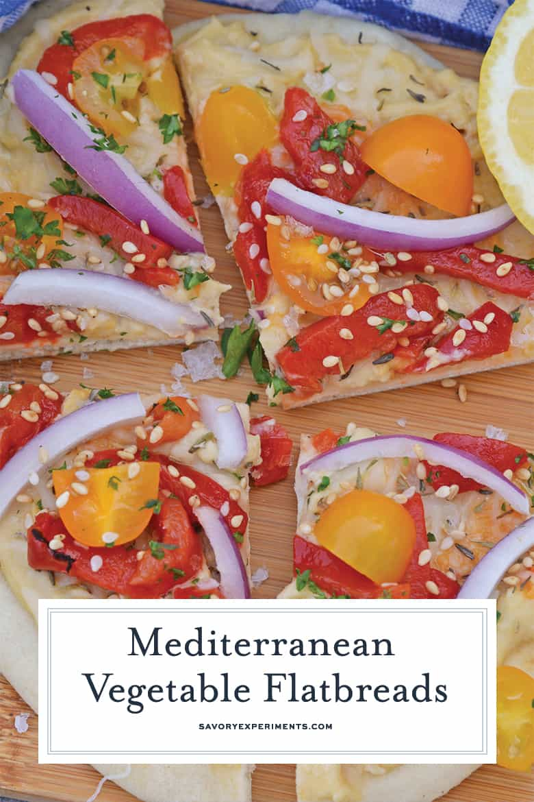 Close up of mediterranean flatbread