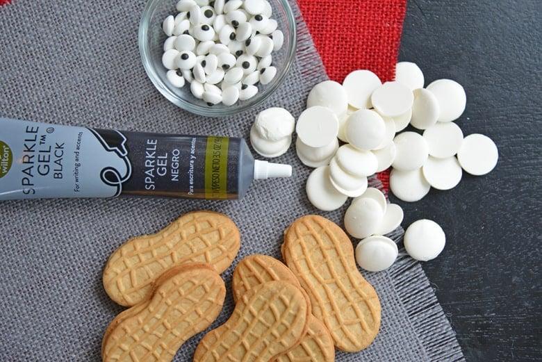 Ingredients for no-bake ghost cookies