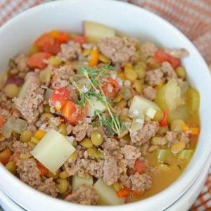 bowl of lamb stew