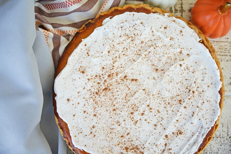 Frosted pumpkin pie