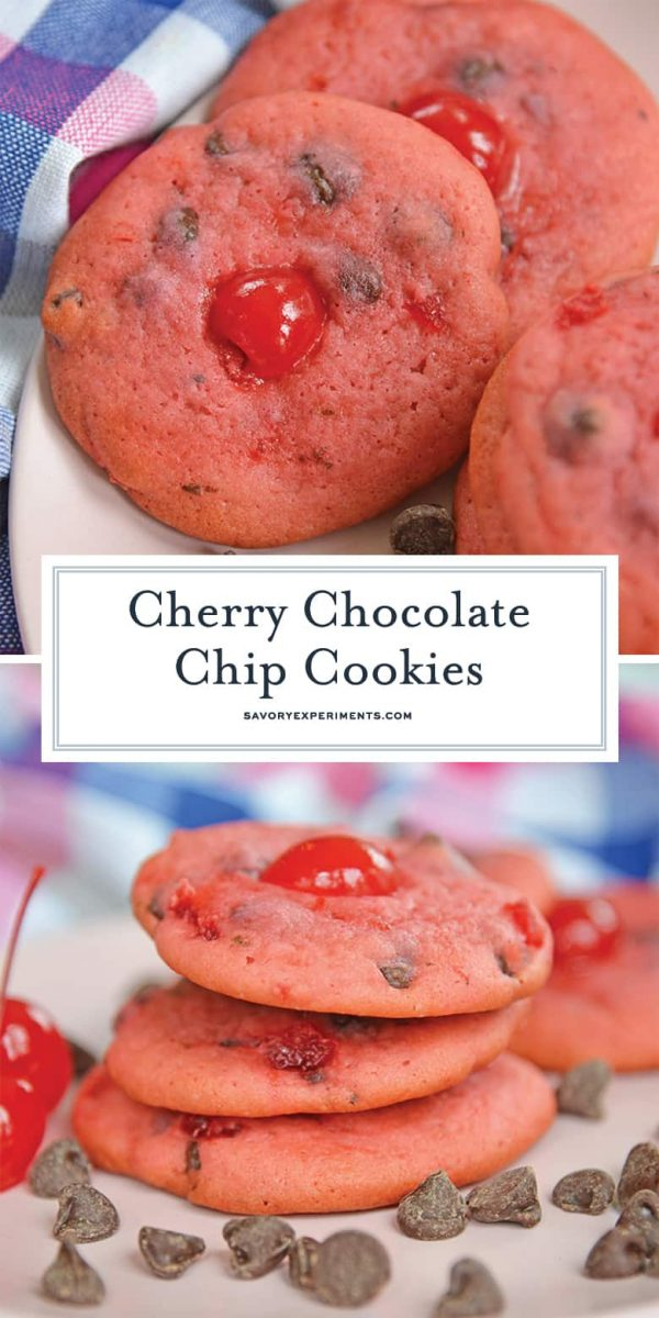 Cherry Chocolate Chip Cookies for Pinterest