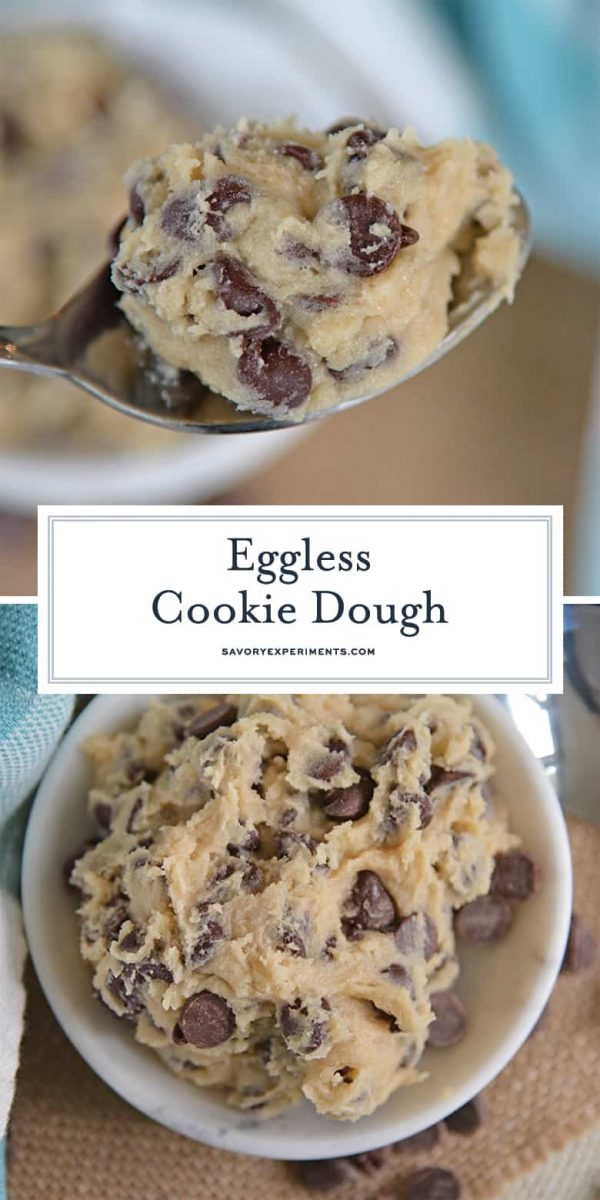Eggless Cookie Dough for One for Pinterest