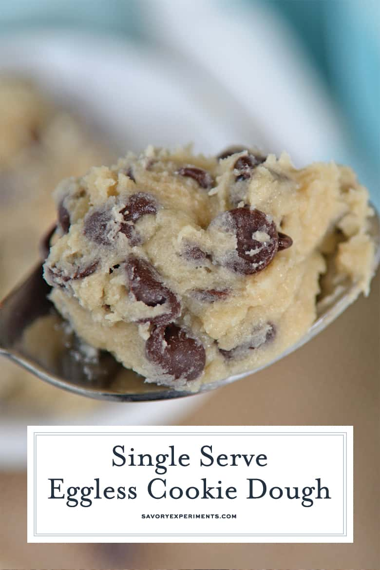 Close up Spoon of Eggless Cookie Dough