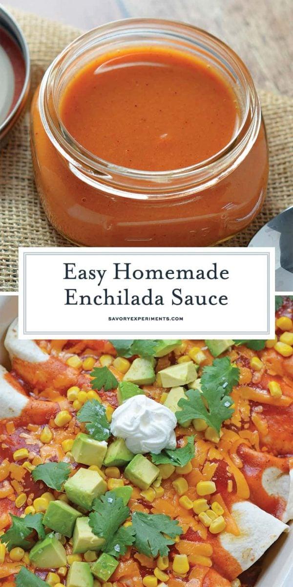 Easy Homemade Enchilada Sauce for Pinterest