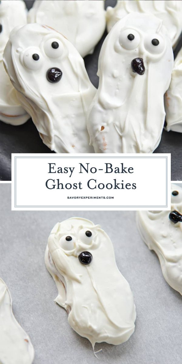 No Bake Ghost Cookies for Pinterest