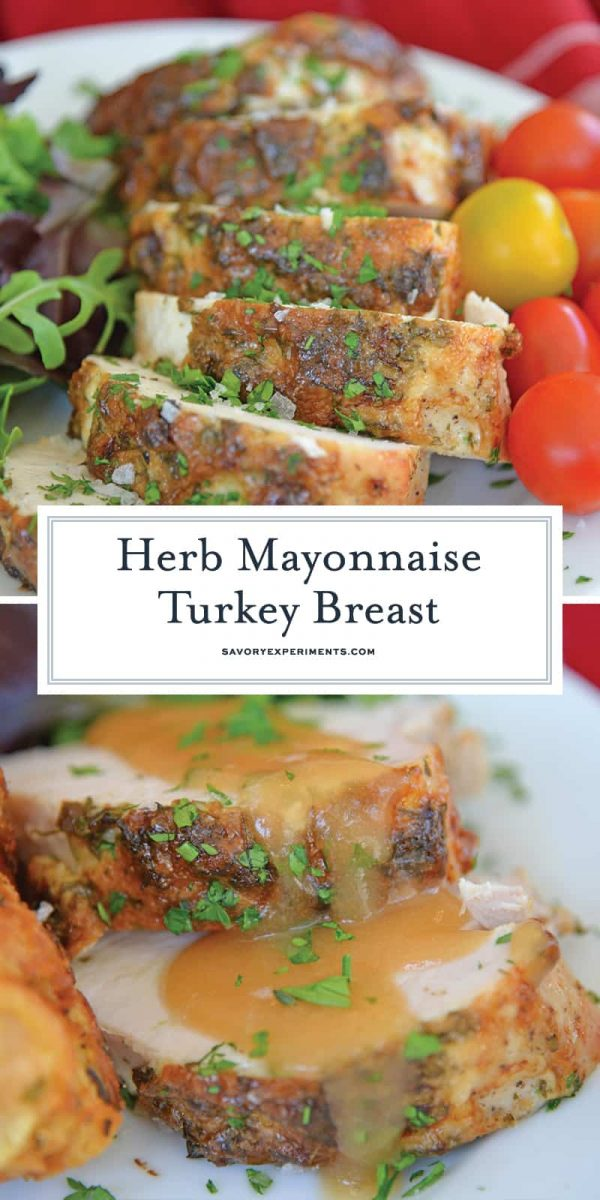 herb mayonnaise turkey breast collage for pinterest