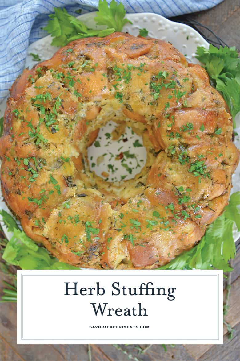 Alternate herb stuffing wreath for pinterest