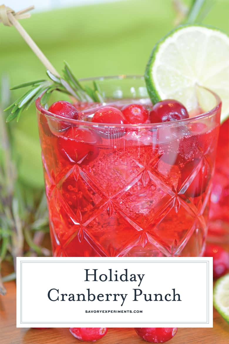 Cocktail glass of holiday cranberry cocktail