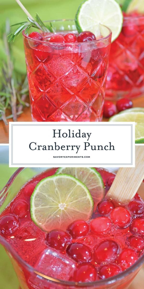 Holiday cranberry punch for Pinterest