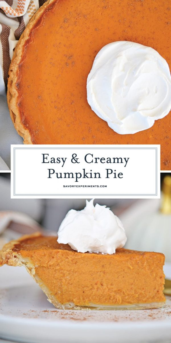 Easy Pumpkin Pie for Pinterest