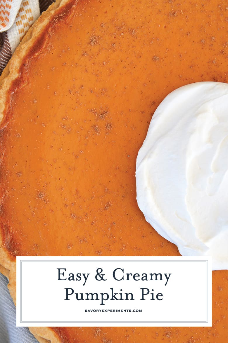 Super close up of creamy pumpkin pie
