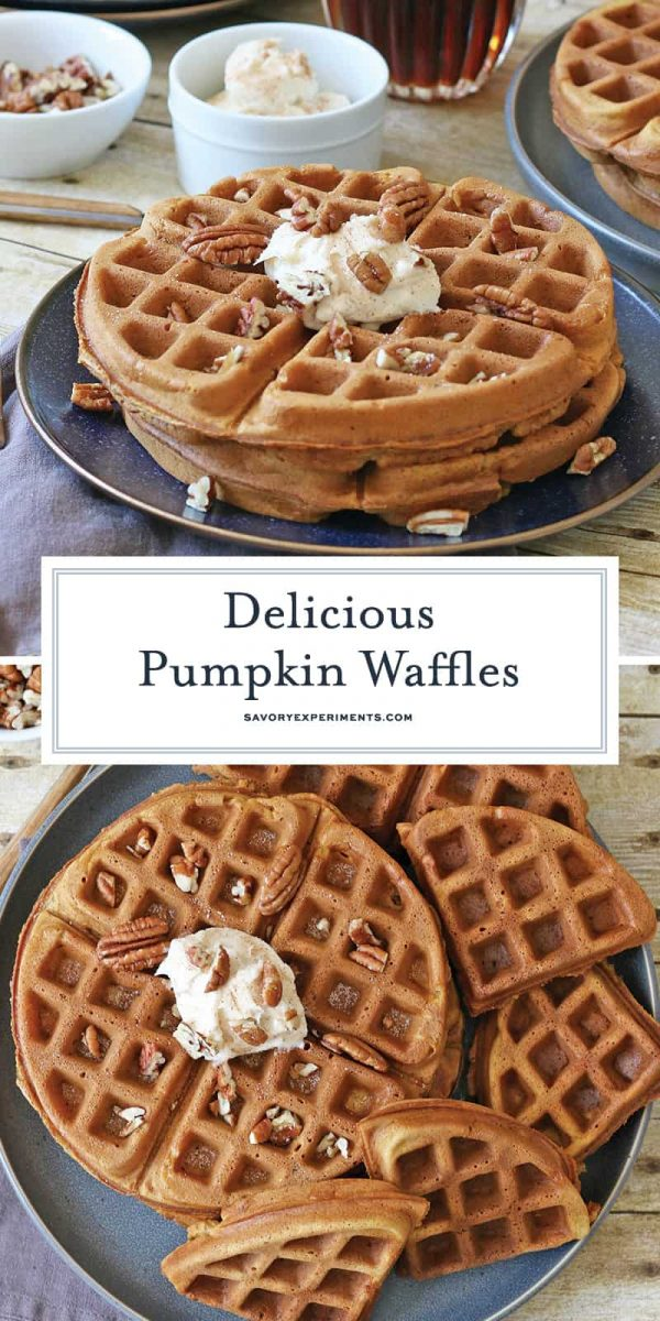 Pumpkin waffle recipe for pinterest