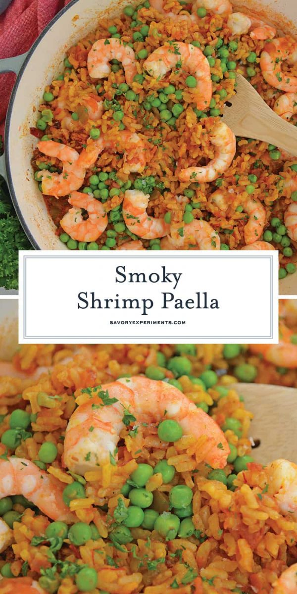 Smoky Shrimp Paella for Pinterest
