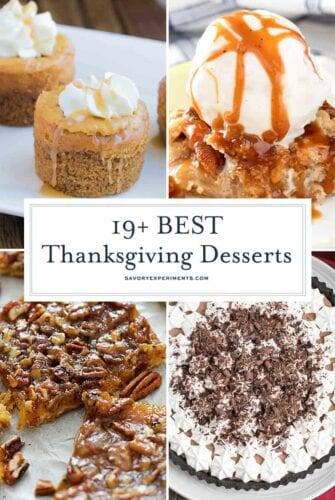 collage of thanksgiving dessert ideas