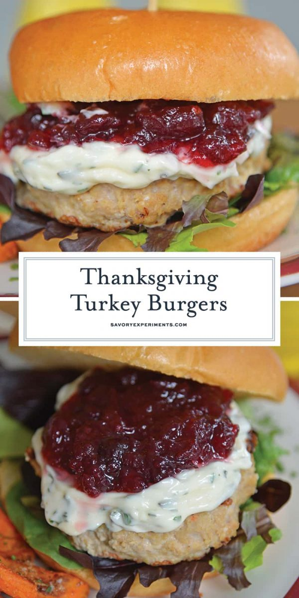 Thanksgiving Turkey Burger for Pinterest