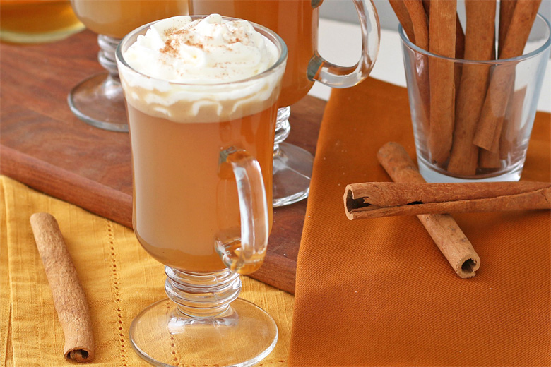 Close up of hot buttered rum