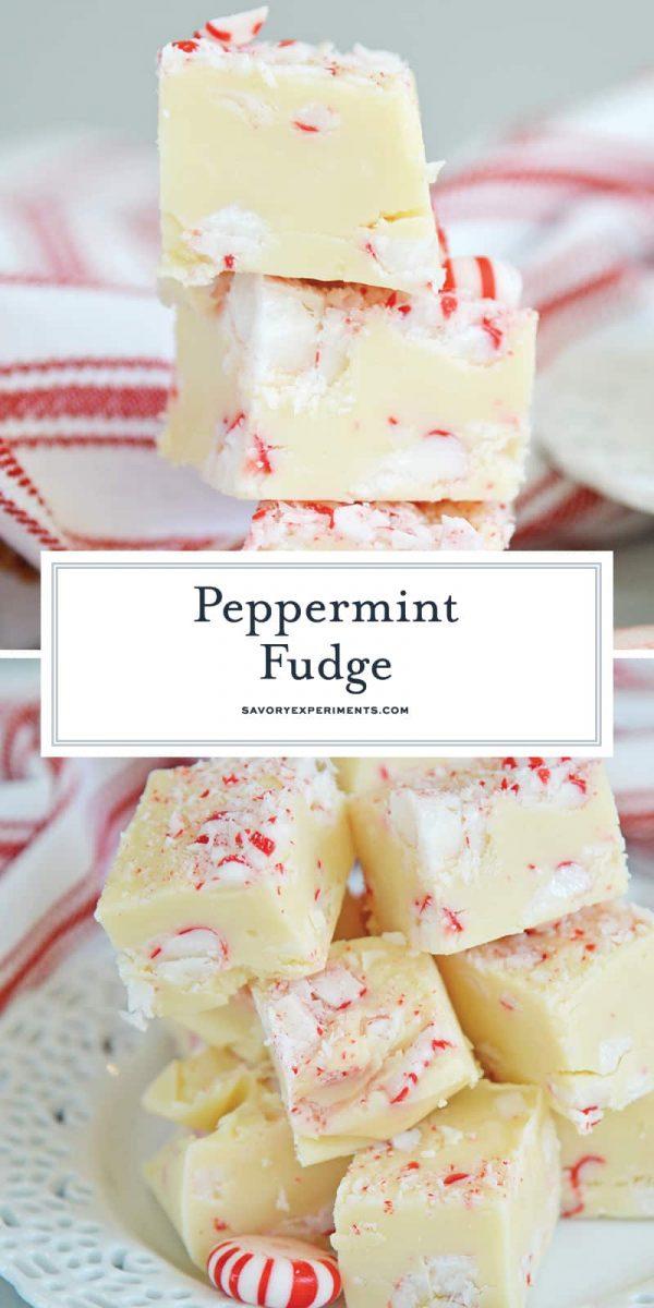 Peppermint Fudge for Pinterest