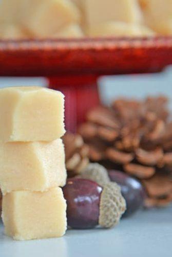 stack of vanilla fudge