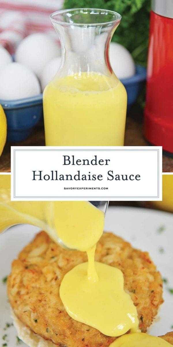 Blender Hollandaise Sauce for Pinterest