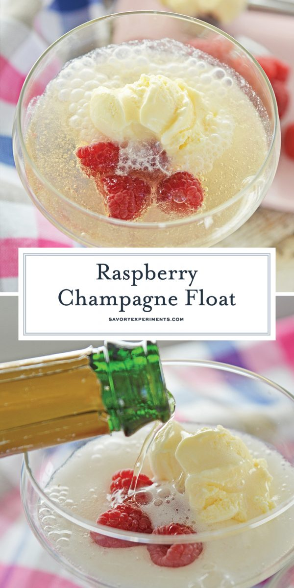Champagne cocktail recipe for Pinterest