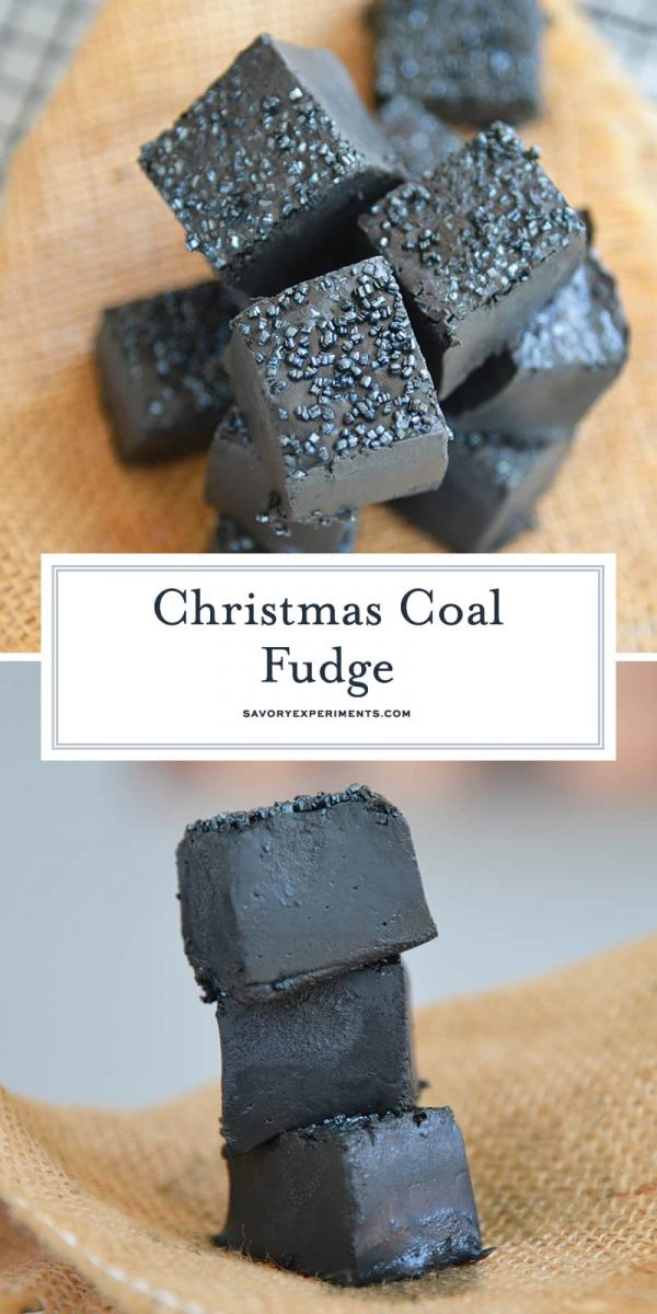 Black christmas coal candy fudge for pinterest