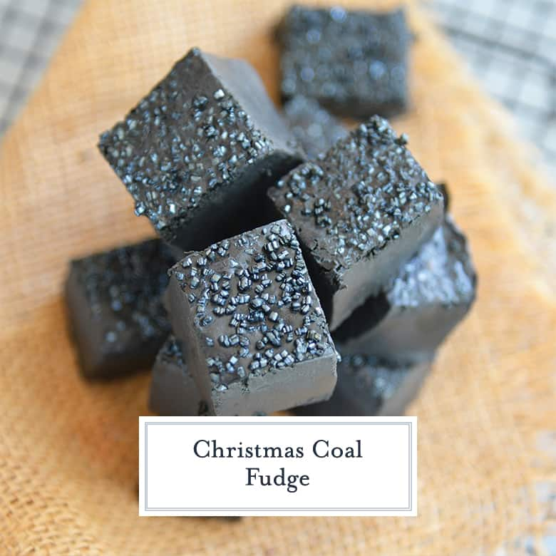 Pile of black coal candy for Christmas