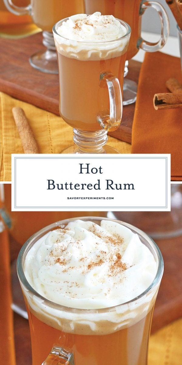 Easy Hot Buttered Rum for Pinterest