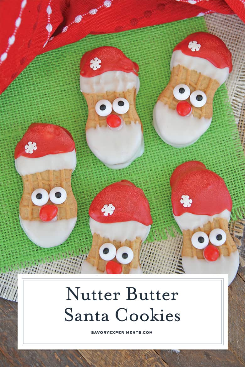 Nutter butter santa cookies for Pinterest