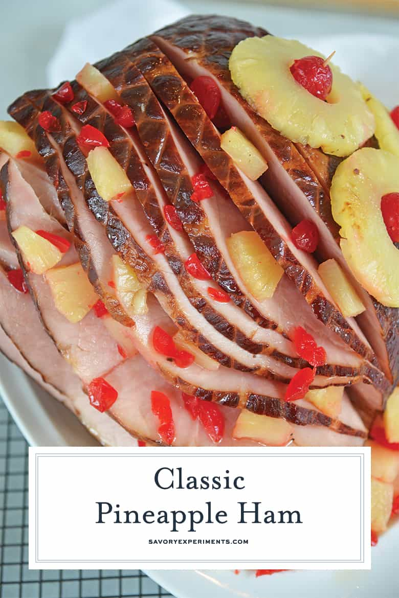 Sliced glazed ham for Pinterest