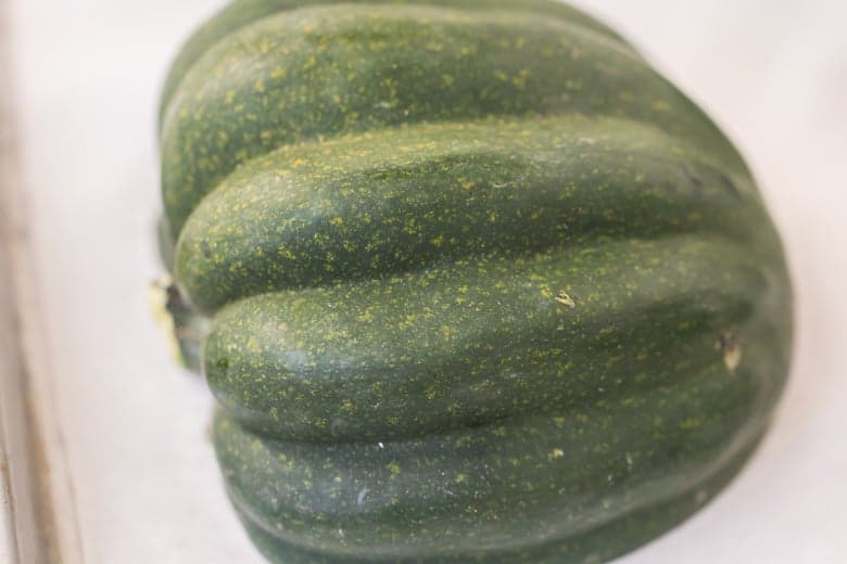 A close up of acorn squash