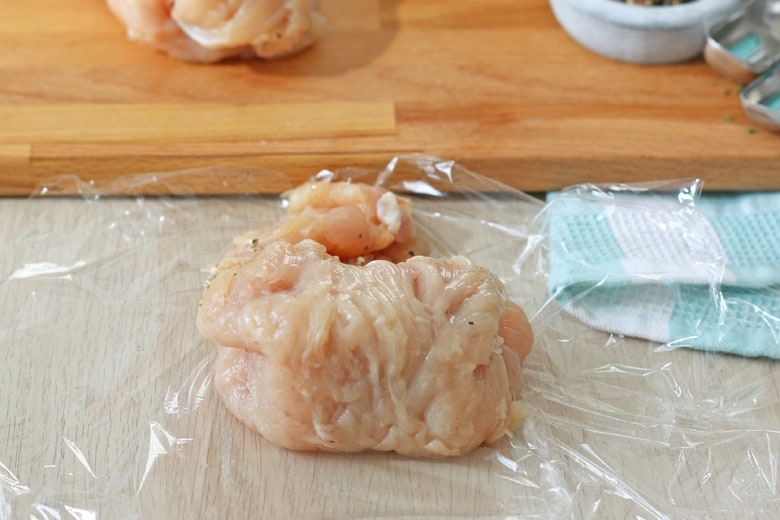 Chicken breast rolled with butter