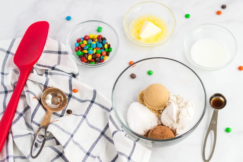 Ingredients for single serving eggless cookie dough