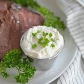 horseradish cream sauce with chives