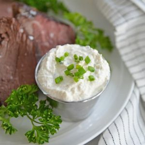 horseradish cream sauce with chives