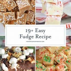 Collage of Christmas Fudge Recipes