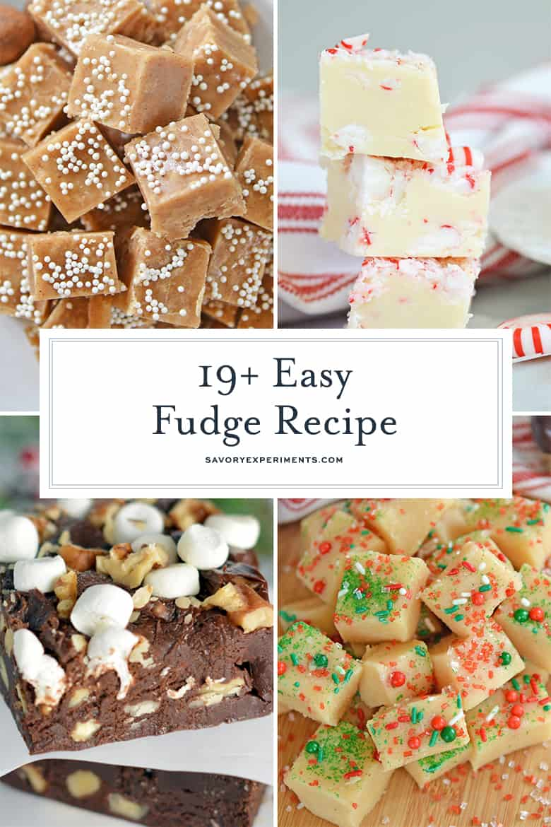Collage of Christmas Fudge Recipes