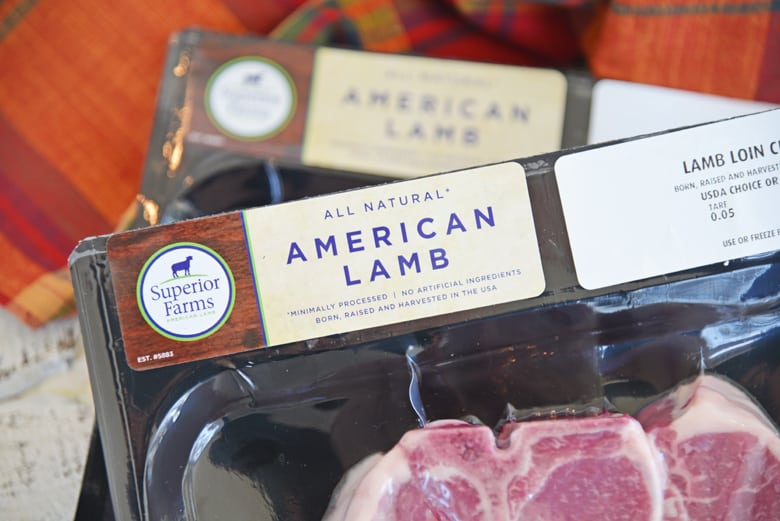 American lamb packaging