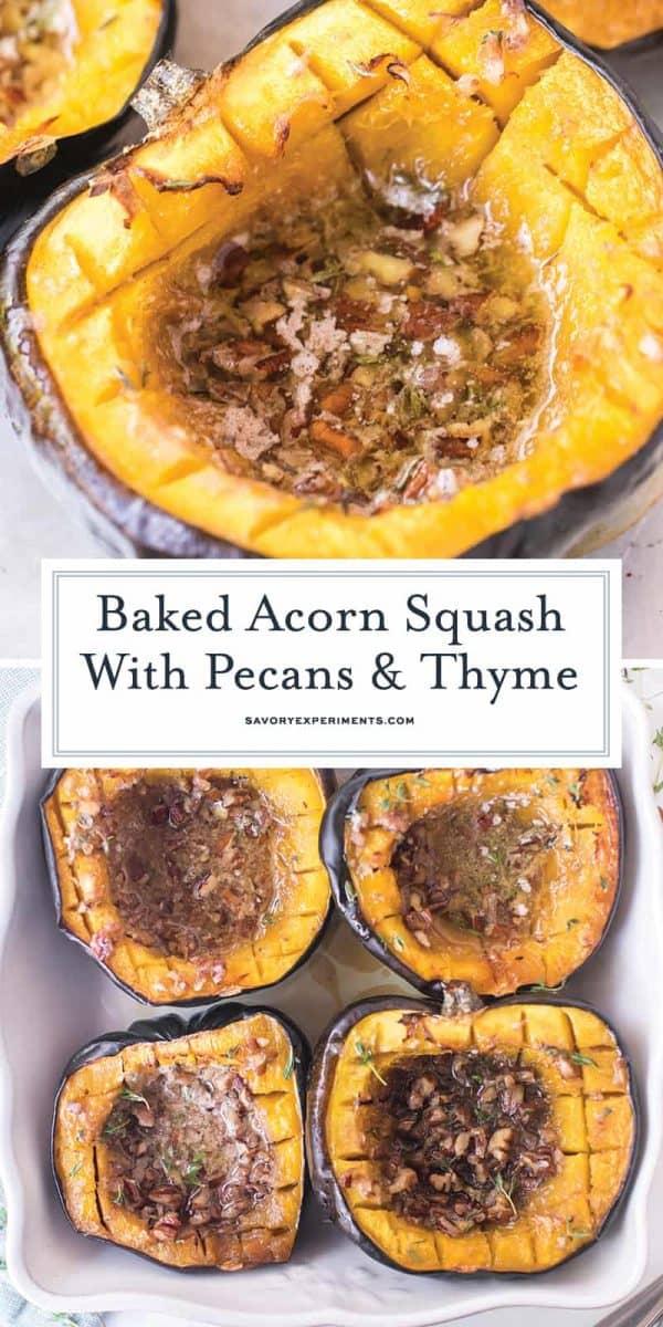 baked acorn squash for pinterest